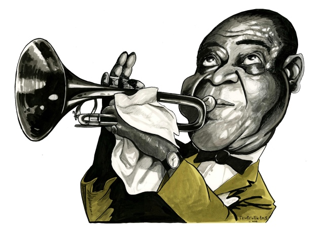 GEORGOPALIS 3 _Louis Armstrong_CARICATURE
